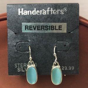 Reversible sterling silver earrings.NWT